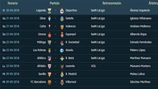 Todos los partidos y horarios de la 34ª Jornada de LaLiga Santander