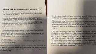 Argentina's World Cup Manual Gives Players Advice on Picking Up Russian Women