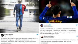 Los mejores 'tweets' de la victoria del Barça y la despedida de Iniesta en el Camp Nou