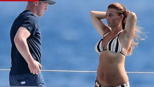 Wayne Rooney pasea en la playa con su esposa en los momentos previos a su posible llegada a la MLS