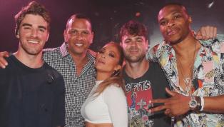 DE LUJO: Russell Westbrook estuvo con A-Rod y JLo en concierto en Las Vegas