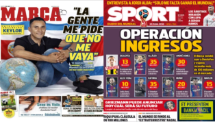 La continuidad de Keylor Navas y las ventas que quiere hacer el Barça, protagonistas de las portadas