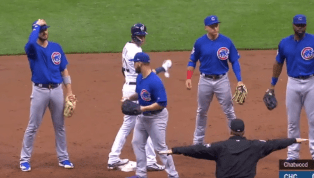 VIDEO: Cubs Botch Easy Rundown and Let All Brewers Reach Safely on Crazy Play
