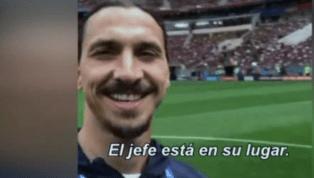 Zlatan Ibrahimovic sí asistió al mundial de Rusia y se lo restregó al planeta