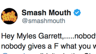 Smash Mouth Trashes Myles Garrett on Twitter Over Kevin Durant Comments