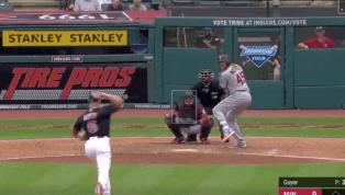VIDEO: Watch Indians OF Brandon Guyer Toss 1-2-3 Inning in Pitching Debut