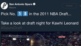 VIDEO: Spurs Twitter Displays Worst Timing Ever With Video of Kawhi Leonard's Draft Night