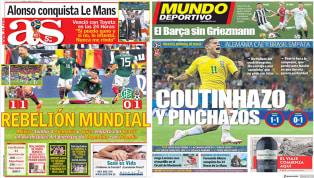 Los pinchazos de las favoritas en el Mundial, protagonistas de las portadas