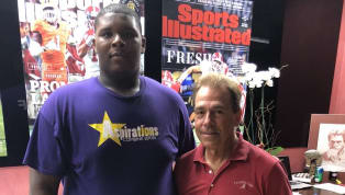 Nick Saban and Alabama Offer Massive Eighth Grader Creating Buzz in College Football World