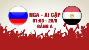 NHẬN ĐỊNH: Nga - Ai Cập (1h00 - 20/6): Chung kết bảng A!