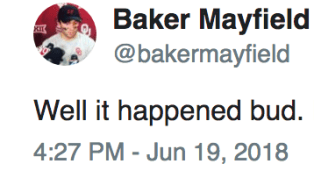 Baker Mayfield Owns Colin Cowherd on Twitter After He Called Him Out Again Over Top Pick Status