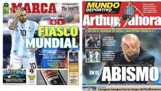 Messi y la debacle de Argentina ante Croacia copan todas las portadas