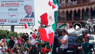 LOCURA   Los festejos se salen de control en México y dos policías salen los más perjudicados