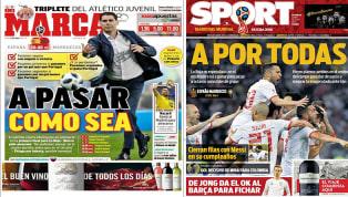 El importante partido de España, protagonista de las portada