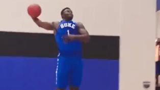 VIDEO: Watch Zion Williamson Take Flight in New Duke Threads