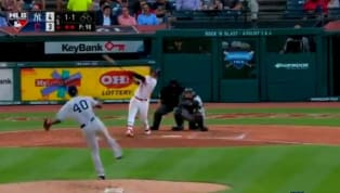 TREMENDO: José Ramírez iguala a J.D. Martínez en el liderato de jonrones de MLB con este bambinazo