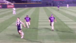 VIDEO: Rockies Fan Clobbers Streaker Trying to Escape Security