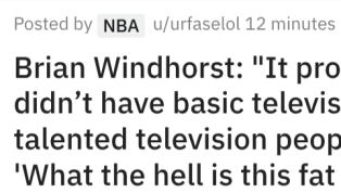 Brian Windhorst Has Perfect NSFW Quote About Him Being a TV Personality