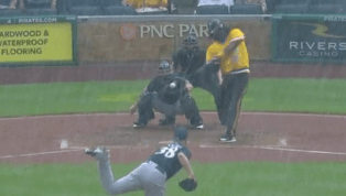 VIDEO: Josh Bell Hits Walk-Off Double in Pouring Rain to Cap 5-Game Sweep of Brewers