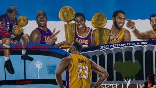 LeBron Graces Brand New Mural in Los Angeles