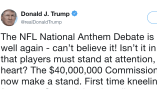 Donald Trump Asks for Absurd Punishment of NFL Players Who Protest During Anthem