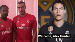 Real Madrid Squad Welcome Their New Signing, Alex Hunter