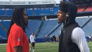 VIDEO: Cam Newton Confronted Kelvin Benjamin About His Comments and it Got Nasty