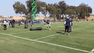 VIDEO: Randy Gregory is Finally Back at Practice and Looks Like an Absolute Animal