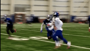 VIDEO: Saquon Barkley Made Ridiculous Catch During Practice But Had Leg Wrapped Afterwards