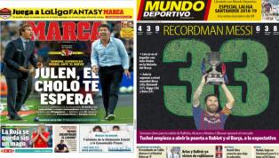 La Supercopa de Europa y el 'recordman' Messi, protagonistas de las portadas
