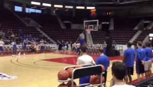 VIDEO: Duke Phenoms Zion Williamson and RJ Barrett Star in Free Throw Line Dunk Contest