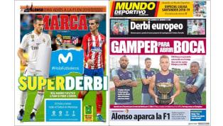 La Supercopa de Europa y el trofeo Gamper en las portadas