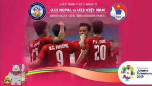 19:00 ngày 16/8, Olympic Việt Nam - Olympic Nepal: Thắng để nắm vé đi tiếp!