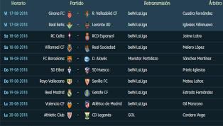 Todos los partidos y horarios de la 1ª jornada de LaLiga Santander