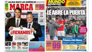 Los 300 millones del Madrid para fichar y el permiso de Mou a Pogba en las portadas