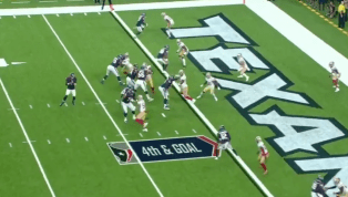 VIDEO: Watch Deshaun Watson Respond to 49ers on 4th and Goal With TD Pass