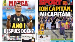 Los debuts de Messi y Cristiano protagonizan las portadas del día