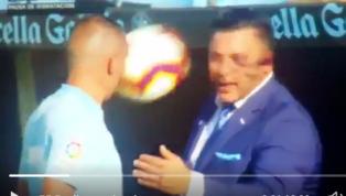 VIDEO   El balonazo a Antonio Mohamed que se ha vuelto viral en su debut con el Celta