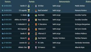 Los horarios y dónde ver por TV los partidos de la 2ª jornada de LaLiga Santander