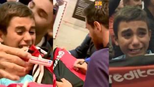 TE HARÁ LLORAR | Lionel Messi le firmó su camiseta de Newell's y su reacción conmovió a todos