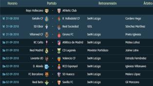 Todos los partidos, horarios y retransmisiones de la 3ª jornada de LaLiga Santander
