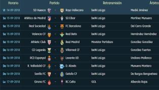 Partidos y horarios de la 4ª jornada de LaLiga Santander