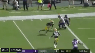VIDEO: Rodgers y Davante Adams se combinan para un gran touchdown de los Packers