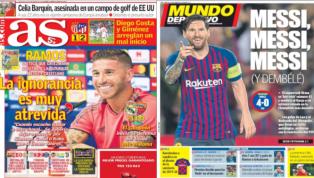 Las declaraciones incendiarias de Ramos y la exhibición de Messi, protagonistas de las portadas
