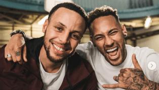 SORPRENDENTE: Neymar y Curry protagonizan competencia de triples y este fue el resultado