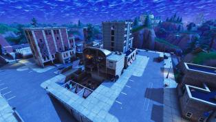 Fortnite Purple Cube Destroys Tilted Tower Building Again