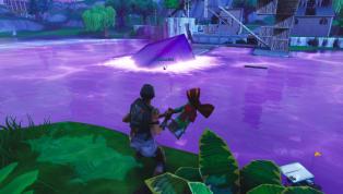 Fortnite Purple Cube Turns Loot Lake Into Massive Bounce Pad