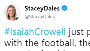 NFL Network Employee Calls Out Isaiah Crowell for NSFW Celebration