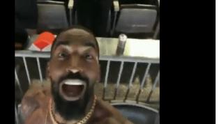 IMPERDIBLE: J.R. Smith celebró a todo pulmón y sin camisa el triunfo de los Cleveland Browns