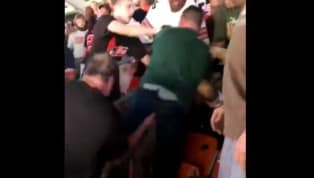 VIDEO: Old Browns Fan Randomly Joins Fight Just to Grab a Jets Fan in the Junk